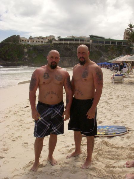 Twins at Beach
