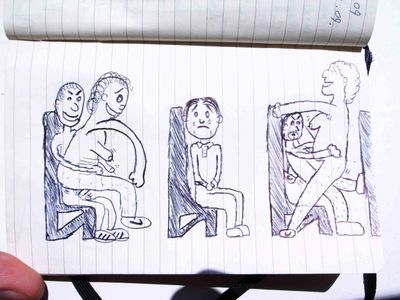 So he illustrated the nasty sex tales as told to him by four of his friends.