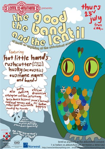 Poster - The Good, The Band and The Lentil